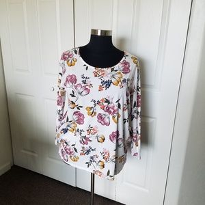 Terra and Sky Spring Colorful floral Blouse